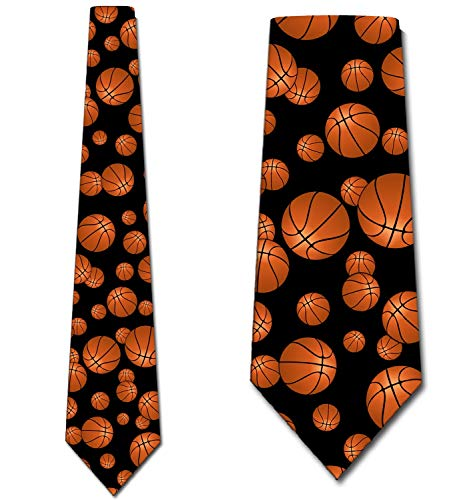 Basketball Ties Mens Sports Necktie by Three Rooker ()