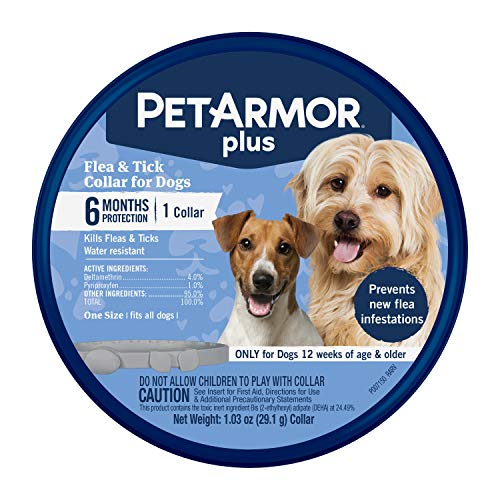 PetArmor Plus Flea & Tick Collar for Dogs, (one Size fits All) – 1 Count (183117)