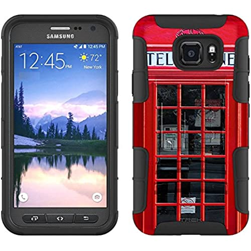 Samsung Galaxy S7 Active Armor Hybrid Case Red British Phone Booth 2 Piece Case with Holster for Samsung Galaxy S7 Active Sales