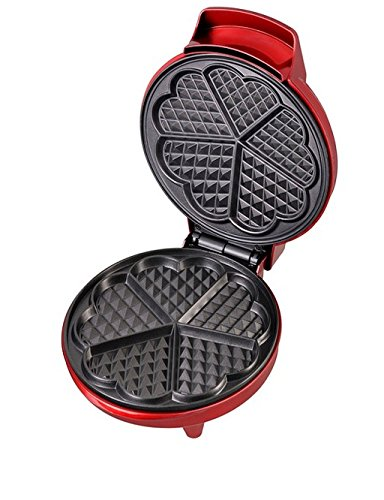 Heart Shape Waffle Maker, Non-Stick Surface, Ready Indicator