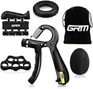 GRM Hand Grip Strengthener with Counter, Forearm Trainer Workout Kit (5Pack), Adjustable Resistance Grip Stren
