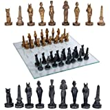 Pacific Giftware Ancient Egyptian God Kingdom Civil War Chess Set with Glass Board 17