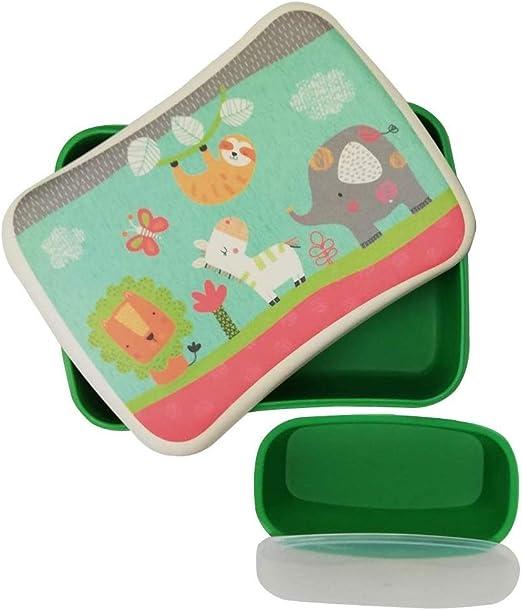 Fiambrera de Bambu Infantil ♻ Pack Tuper y Sandwichera de Fibra de Bambú - Material Ecologico, Reciclable, Biodegradable y Ligero - Apto para Lavavajillas - Lonchera Eco, Bio, Sin BPA - Ideal niños: Amazon.es: Hogar