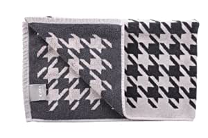 Citta Design 'Houndstooth' Bath Mat, Oyster/Carbon, 33x20 inches