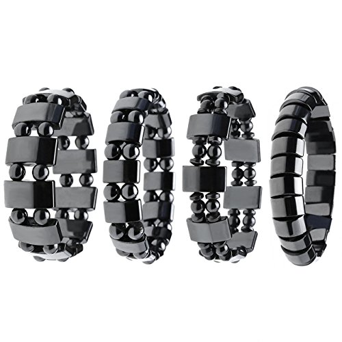 Top Plaza Hematite Magnetic Bracelets