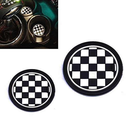 vciic-2-73mm-black-white-checkered-checkerboard-pattern-soft-silicone-cup-holder-coasters-for-mini-c