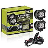 AVEC 2x 4in. 18w LED Utility Light Kit with Wiring Harness
