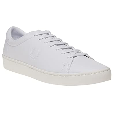 Fred Perry SPENCER LEATHER Blanc jkXvmN13