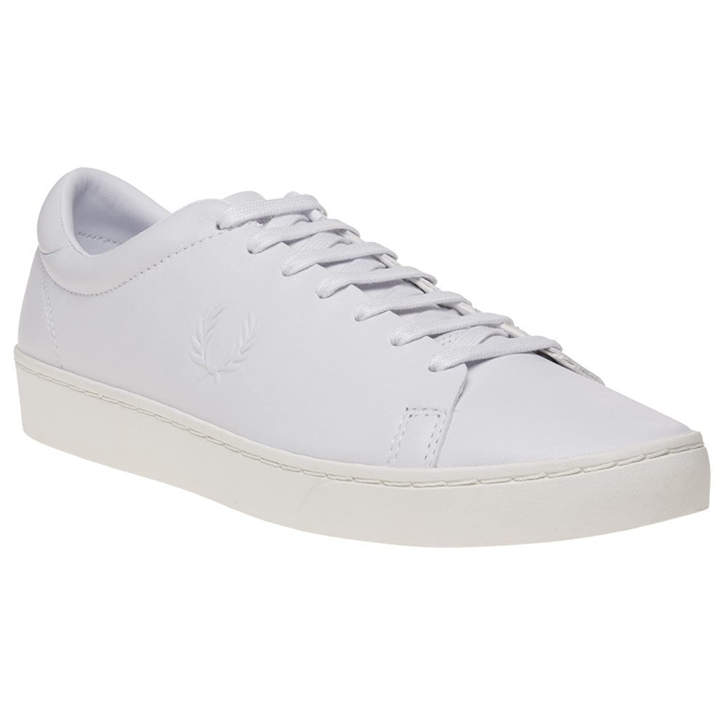 Fred Perry Spencer Premium Leather Herren Sneaker Weiß Weiss