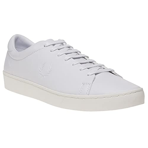 Fred Perry Spencer Premium Leather Hombre Zapatillas Blanco: Amazon.es: Zapatos y complementos