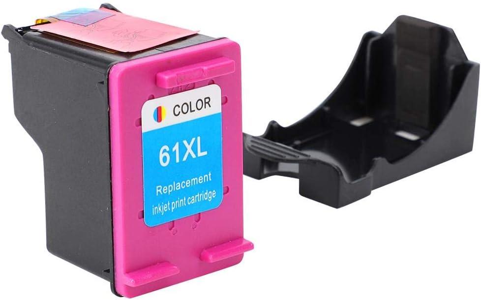 Color Remanufactured Ink Cartridges Replacement Inkjet Ink Cartridges Printer Refillable Ink Cartridge Fit for HP 61 XL Officejet 2620 4639 Deskjet 1000 1050 2000 Printer