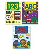 Coloring & Activity Book Set Kids-- 3 Books (ABC, 123 and First Word book)