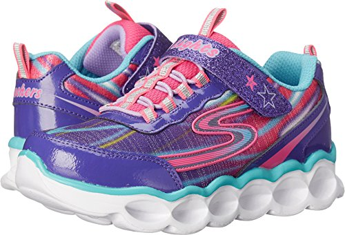 Girls Light Up Shoes (Skechers Kids Lumos-10613L Light-Up Sneaker (Toddler/Little Kid),Purple/Multi,13.5 M US Little Kid)