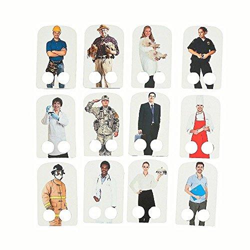 Halloween Paper Finger Puppets (12 ~ Community Helper Cardboard Finger Puppets ~ 3 3/4