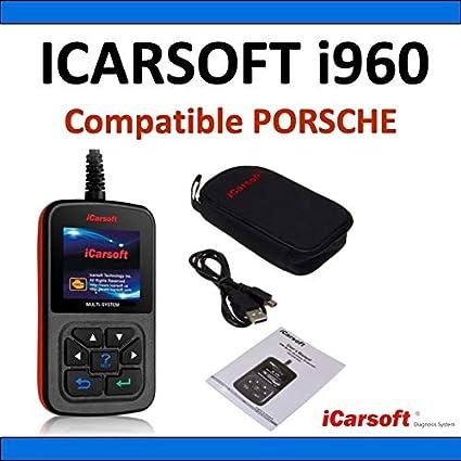 Interface de Diagnostic iCarsoft i960 Compatible avec v/éhicules Porsche Diagnostic Tous Syst/èmes