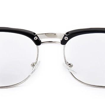 Tinksky Occhiali da vista Frame Unisex Retro pianura occhiali occhiali da vista Frame (nero + argento) Sw1OFZgmJ