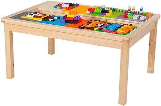 Juegos de mesas y sillas Mesa de Madera para niños 1-2-3-6 años Mesa