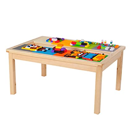 Amazon.com: Table & Chair Sets Childrens Wooden Table 1-2-3-6 Years ...