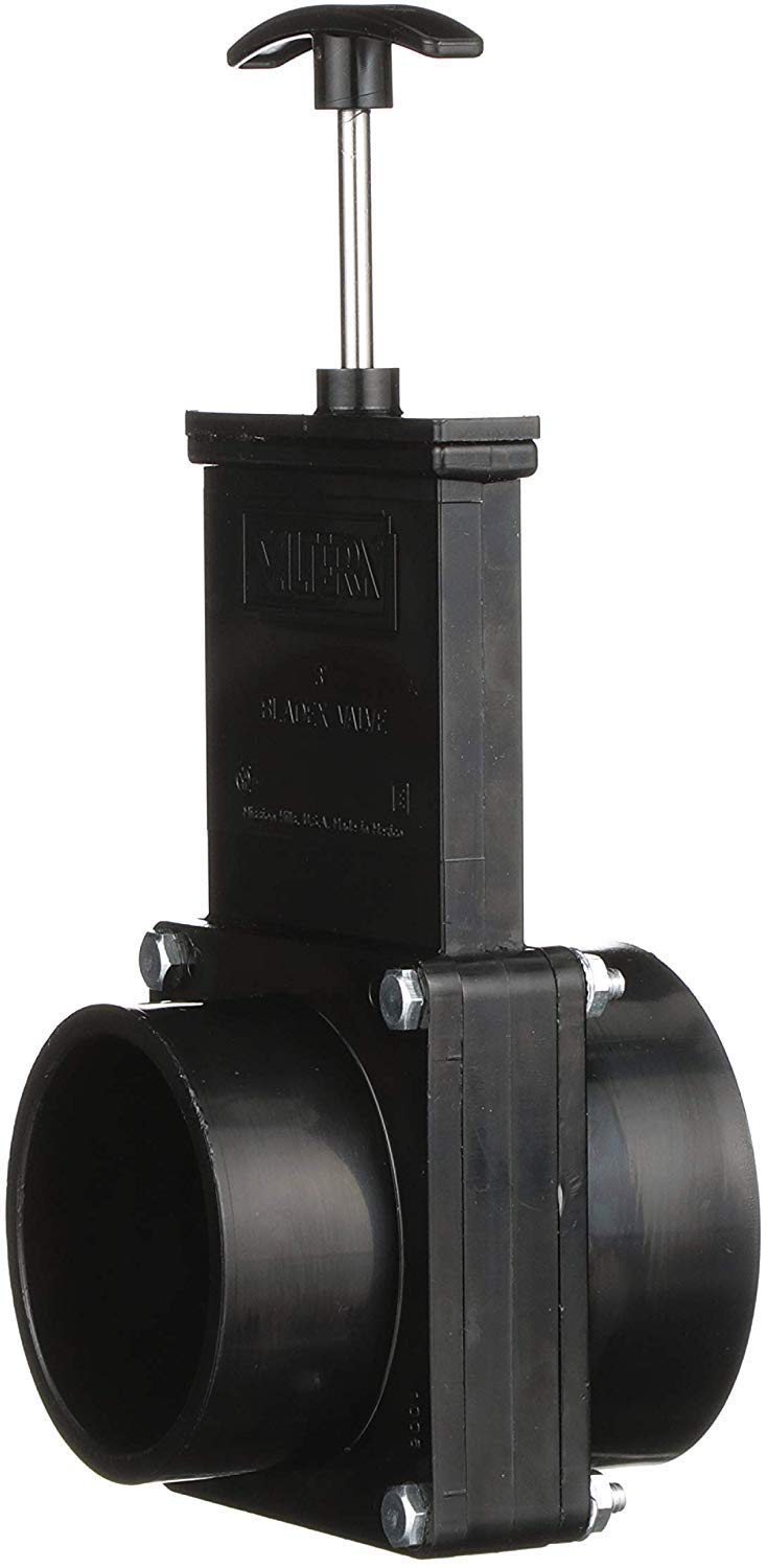 Valterra 3 RV Waste Dump Gate Valve 3-Inch Hub x 3-Inch Spigot Connection