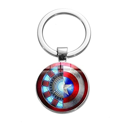 CLEARNICE Llavero Iron Man Tony Stark Llavero Marvel Los ...