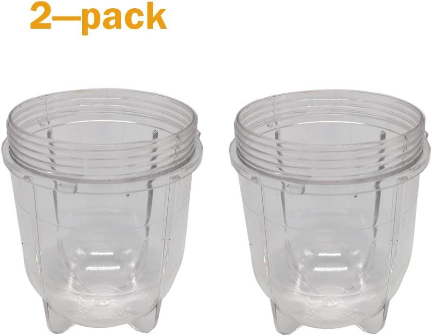 2pcs Replacement 12oz short bullet Cup Fits Original Magic Bullet Blender Juicer(2, short bullet cup)