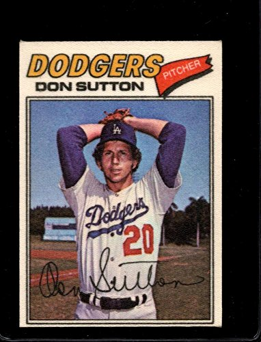 1977 TOPPS CLOTH STICKERS #47 DON SUTTON EXMT *A6616 (Cloth Topps 1977)