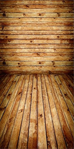 10x20 ft Wooden Plank Wall with Floor Background Interior Wood Texture Backdrop Photography Indoor Digital Shoot Prop by Jervie