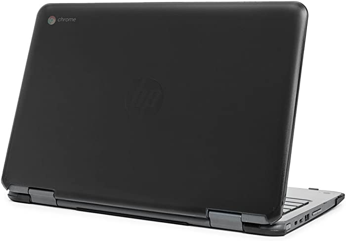 """mCover Hard Shell Case for 11.6"""" HP Chromebook X360 11 G1 EE laptops (NOT Compatible with HP C11 G4EE / G5EE / G6EE) (HP CX360 11 G1EE Black)"""