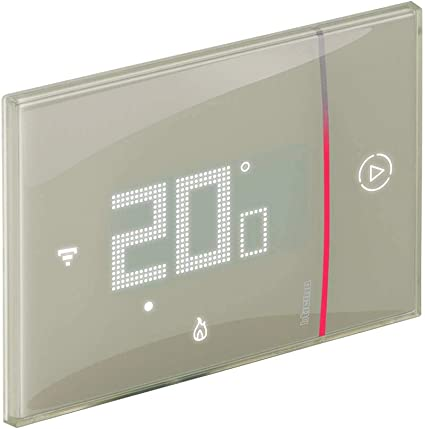 Version Professionnelle encastrable Blanc Bticino Thermostat Wi-FI Intelligent Smarther2 avec Netatmo XW8002