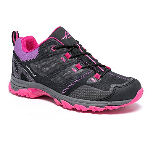 Pictures of Mountbeyond Womens Waterproof Hiking Shoes Outdoor Breathable W001A 1