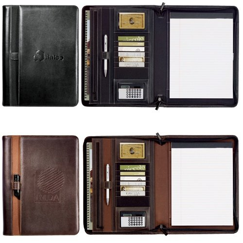 Stratford Zippered Padfolio Black Color