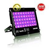 JSVSAL UV LED Blacklights, 50W Ultra Violet LED Flood Light for DJ Disco Club,Night Clubs,UV Light Glow Bar,Birthday Parties,Blacklight Party,Aquariums and Other Entertainment Venues Stage Lighting