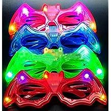 12ct LED Light Up Sunglasses - Flashing Multi Colored Led Glasses BEST PARTY FAVORS Light Up Flashing Glasses For Children (Batman)