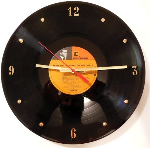 Frank Sinatra Vinyl Record Wall Clock. 12 Wall Clock Made with The Original Album.