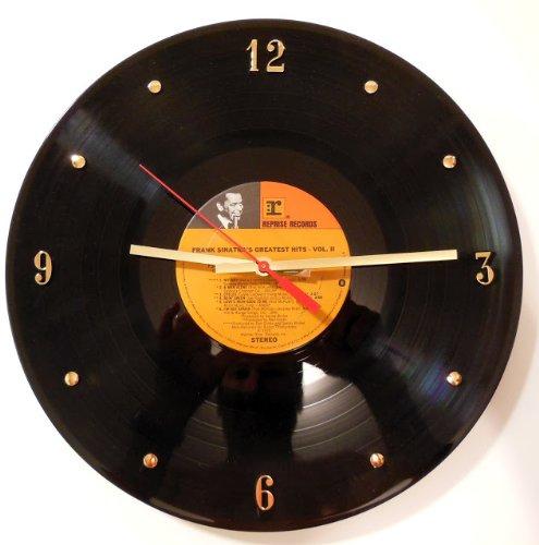 Cheap FRANK SINATRA Vinyl Record Clock. 12″ wall clock made with the original record and ready to hang.