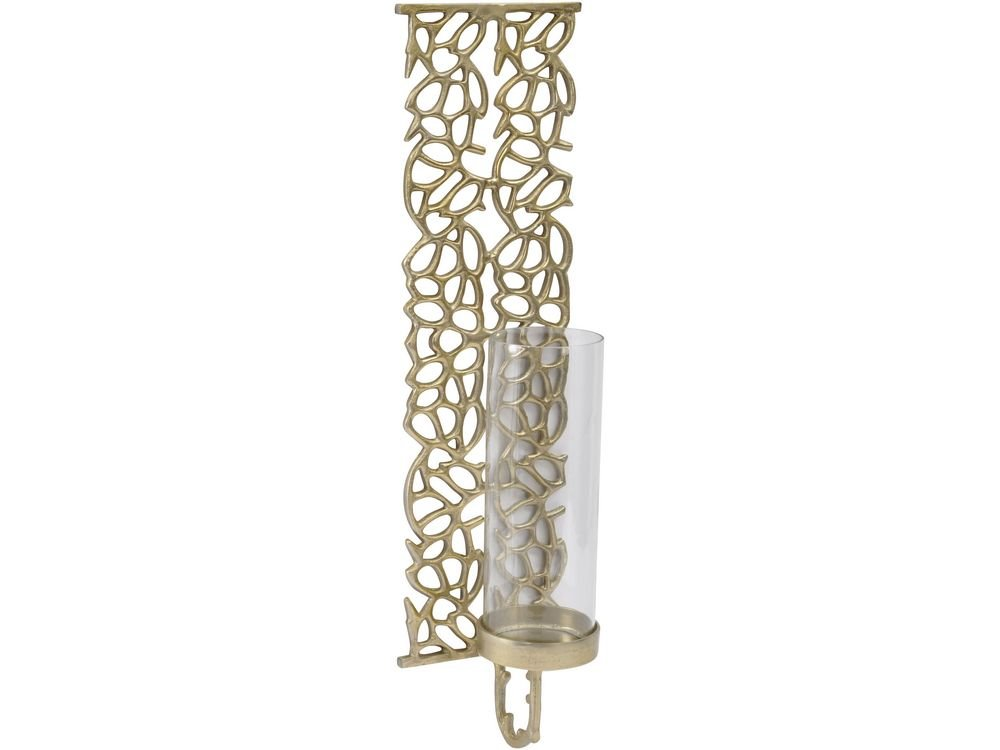Artisanti Coral Metal Wall Sconce in Gold Finish - Large