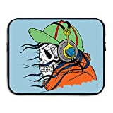 Reteone Laptop Sleeve Bag Cool Skull With Hats Cover Computer Liner Package Protective Case Waterproof Computer Portable Bags
