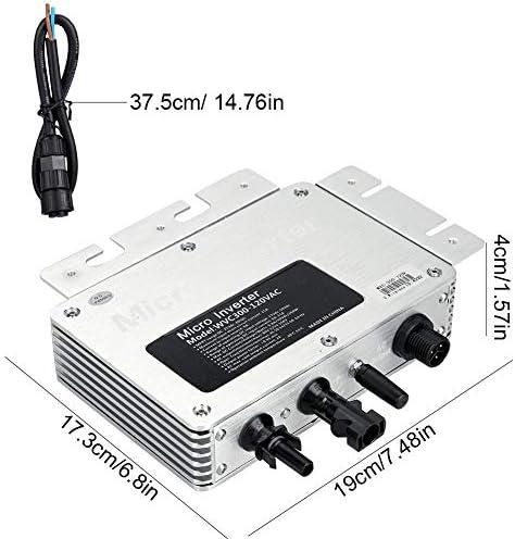 Solar Wechselrichter, Solar Inverter 300W IP65 Robuster Micro Solar Photovoltaik Wechselrichter für das Power Generation System 220V Wechselrichter Solar Photovoltaik Micro Wechselrichter 300W 220V