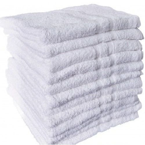 USA_Best_Seller 12 New White Cotton Hotel Hand Face Bath Towels Nice Useful Gym Spa Vacation Rental Property 16x27 Machine Washable Decorative Design