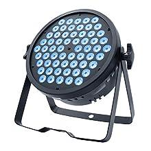 BETOPPER Mini DJ Par light, 60x3W RGB Par Can Wash Lights Slim LED Stage Lighting Super Bright DMX 512 for Bar, Party, Wedding, Disco, Club, Shows, Recording Studio etc