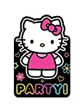 Hello Kitty 'Neon Tween' Invitations w/ Envelopes (8ct)