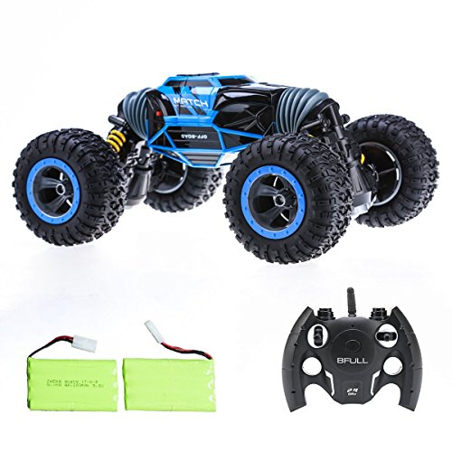 Stunt Vehicle (Bfull 1:10 RC Cars With 2 Pieces of Batteries 4WD High Speed Racing Cars Double Sided Flip RC Car 2-Sided Stunt Vehicle Off-Road Vehicle 2.4Ghz Transform Monster Trucks Rock Crawler Buggy Hobby Car)