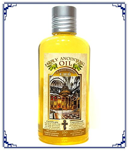 Aromatic ANOINTING OIL Frankincense Myrrh Blessed In Holy Sepulchre Church Jerusalem Holy Land 250 ml Bottle (Church Oil)