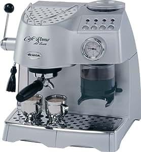 Coffee Maker With Built In Coffee Grinder : Amazon.com: Lello 45920 Ariete Cafe Roma Deluxe Espresso/Cappuccino Maker with Built-In Coffee ...