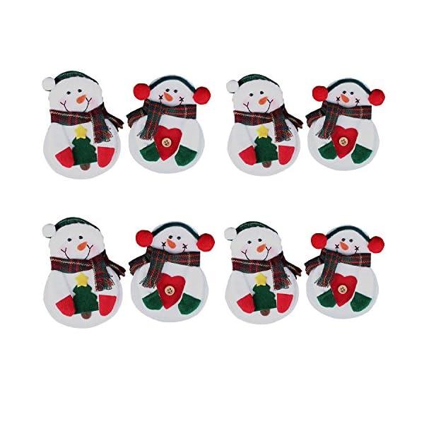 Portaposate Costume da Babbo Natale, Natale, decorazione per tavolo (8pcs) 6 spesavip