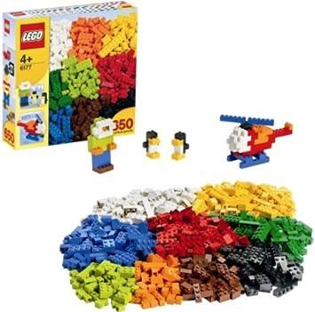 LEGO Caja de piezas complementarias - 6177 + Placa de base gris ...
