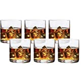 Circleware 44616 Soiree Double Old Fashioned Whiskey Glasses, Set of 6 Drinking Glassware for Water, Juice, Iced Tea, Beer, Wine, Liquor Brandy, Bourbon and Beverage Gift, 14.8 oz, Bohemia DOF 6pc.