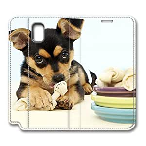 Brain114 Fashion Style Case Design Flip Folio PU Leather Cover Standup Cover Case with Cute Dog 4 Pattern Skin for Samsung Galaxy Note 3