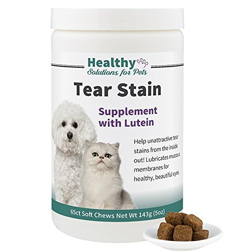 Remove Tear Stains From The Inside Out, Tear Stain Supplement for Dogs and Cats with Lutein, Eye Stain Remover, Keep Your Pets Fur Clean with Our Tasty Tear Stain Remover Soft Chews, Made in the US