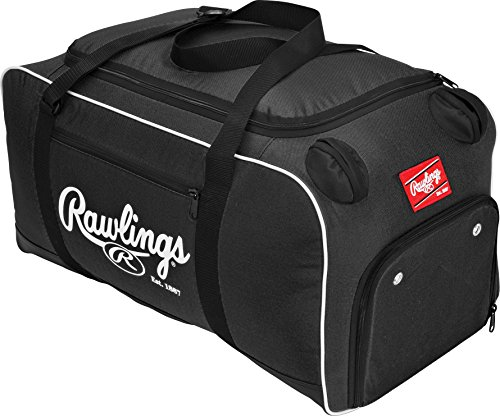 Custom Player Equipment Bag - Rawlings COVERT-B-RAW Covert Baseball or Softball Bat Duffel Bag-Black